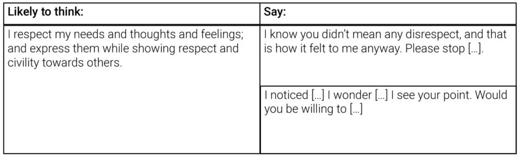 assertive behaviour management